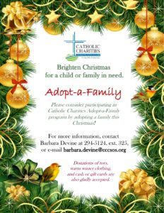 Adopt A Family For Christmas.Catholic Charities Adopt A Family Program Underway For